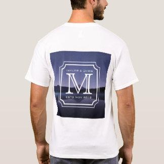 Camiseta Foto bonita da paisagem do monograma considerável