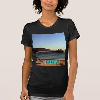 Camiseta Foto do cais de Malibu e da praia de Surfrider,