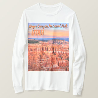 Camiseta Foto do por do sol do deserto da garganta de Bryce