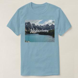 Camiseta Foto exterior que escala, caminhada da aventura,