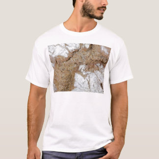 Camiseta Foto macro da superfície do pão de mistura