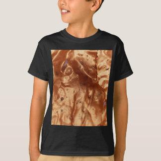 Camiseta Foto macro de um cobrir do chocolate de um bolo