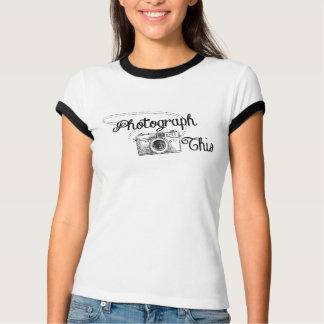 Camiseta Fotografe isto, engraçado, câmera do vintage