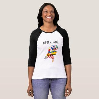 Camiseta Fotorreceptor holandês das regiões do país do