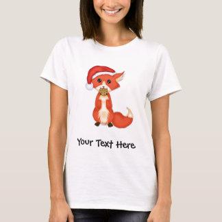 Camiseta Fox bonito do biscoito que veste um chapéu do