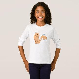 Camiseta Fox com longsleeve da borboleta