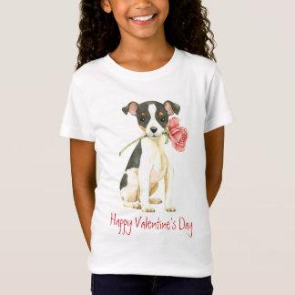 Camiseta Fox cor-de-rosa Terrier do brinquedo dos namorados