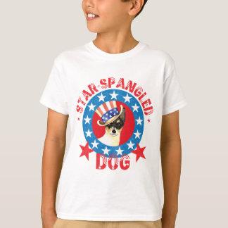 Camiseta Fox patriótico Terrier do brinquedo