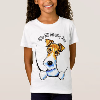 Camiseta Fox Terrier do fio seu toda aproximadamente mim