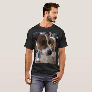 Camiseta Fox Terrier, t-shirt preto dos homens da atração