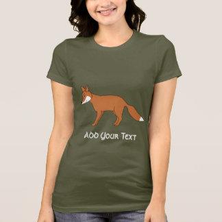 Camiseta Fox. vermelho