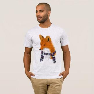 Camiseta Fox vermelho que veste o T da arte do lenço do