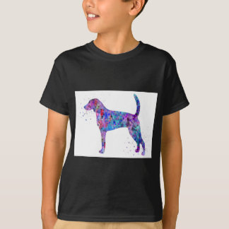 Camiseta Foxhound americano, aguarela do foxhound americano