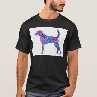 Camiseta Foxhound americano, aguarela do foxhound americano