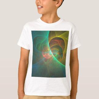 Camiseta Fractal abstrato colorido