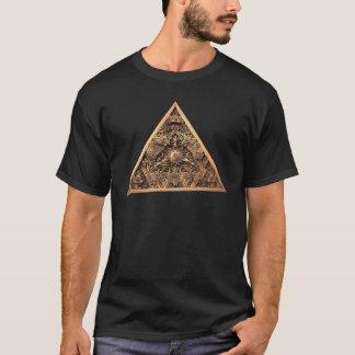 Camiseta Fractal antigo da pirâmide
