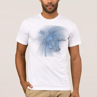 Camiseta Fractal azul do respingo