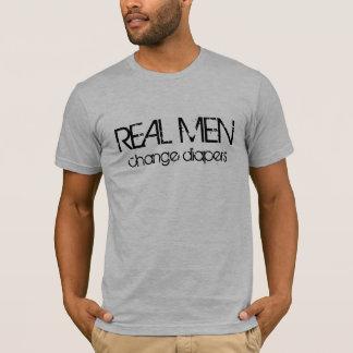 Camiseta Fraldas reais da mudança dos homens