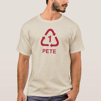 Camiseta Framboesa do T do reciclagem de PETE