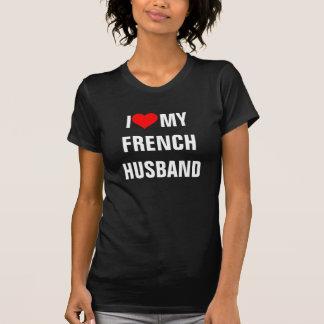 """Camiseta France: """"Eu amo t-shirt do meu marido francês """""""