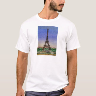 Camiseta france-Paris-Eiffel-torre-roupa