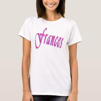 Camiseta Frances, logotipo conhecido,