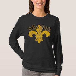 Camiseta Francês Qui Que com flor de lis do ouro