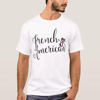 Camiseta francesa dos corações de Entwinted do