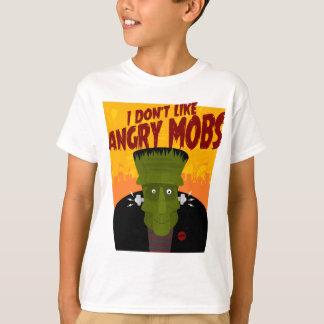 Camiseta Frankenstein diz: Eu não gosto de multidões