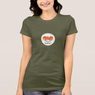 Camiseta frankette! (louro do gengibre/morango) pontilhe o