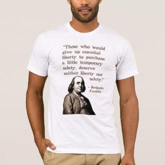 Camiseta Franklin no t-shirt da liberdade e da segurança