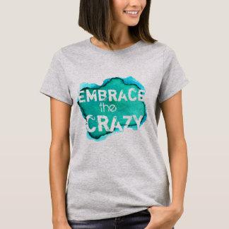 Camiseta Frase louca engraçada na aguarela