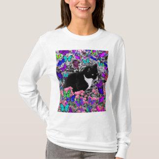 Camiseta Freckles nas borboletas II - gato do smoking