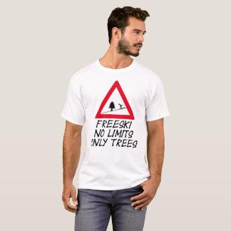 Camiseta Freeski, no limits only trees