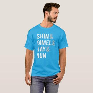 Camiseta Freira do feno de Hanukkah Driedel Shin Gimel