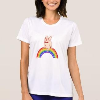 Camiseta Frenchie comemora o mês do orgulho no arco-íris de