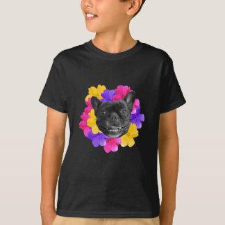 Camiseta Frenchie e Pansies