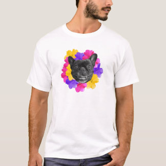 Camiseta Frenchie e Pansies