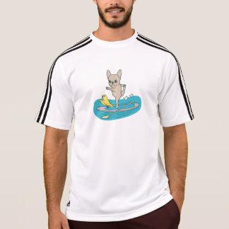 Camiseta Frenchie que faz a ioga no conselho de pá de pé