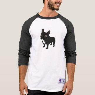 Camiseta Frenchie rajado gosta de ir para uma caminhada