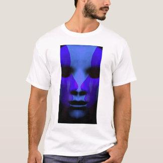 Camiseta frente a frente no azul
