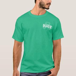 Camiseta Friccione-me para a sorte. T-shirt do dia de St