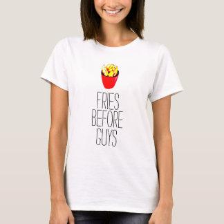 Camiseta Fritadas antes da parte superior das senhoras das
