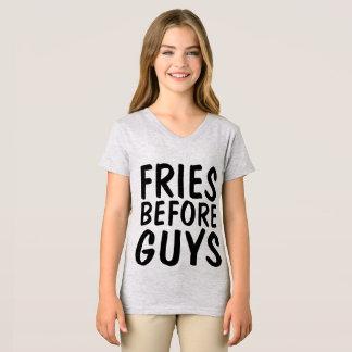 Camiseta FRITADAS ANTES DAS CARAS, t-shirt engraçados das
