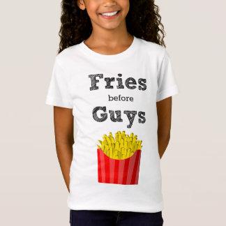 Camiseta Fritadas antes do t-shirt adolescente das caras