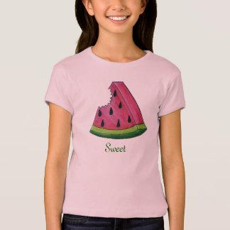 Camiseta Fruta doce cor-de-rosa suculenta Foodie da fatia