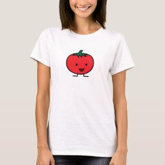 Camiseta Fruta vegetal vermelha do tomate feliz