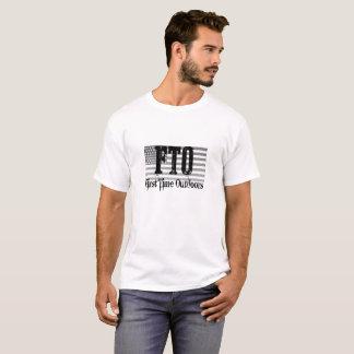 Camiseta FTO T patriótico com das citações parte traseira