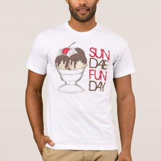 Camiseta Fudge quente Foodie do sorvete do SUNDAE (DOMINGO)