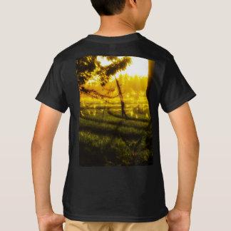 Camiseta Fulgor dourado do fim da tarde no arroz Fie do